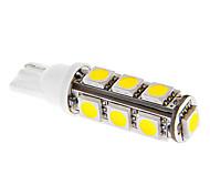 T10 3W 13x5050SMD 117LM 3000-3500K luz blanca cálida Bombilla LED para el coche (12V DC)