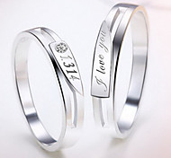 z&x® (2 Stück), Art und Weise Unisex transparent Strass Paar Ringe