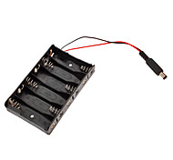 6 x AA Batteries Holder with DC2.1 Power Jack for (For Arduino) (Works with Official (For Arduino) Boards)