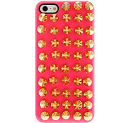 Para Funda iPhone 5 En Relieve Funda Cubierta Trasera Funda Punk Dura Policarbonato iPhone SE/5s/5