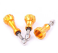 Aluminum Thumb Knob Stainless Bolt Nut Screw Set (Golden)