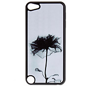 Shimmering Black Flower Pattern Hard Case for iPod touch 5