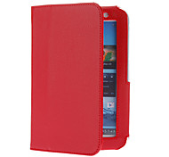 For Samsung Galaxy Note with Stand / Flip Case Full Body Case Solid Color PU Leather Samsung Tab 2 7.0