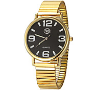 Unisex Stretch Round Dial Alloy Band Quartz Analog Wrist Watch (Assorted Colors)