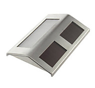 Cool White Light LED White Stainless Steel Solar Powered Staircase Step and Wall Light