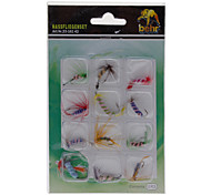 Lifelike Fish Lure for Fly Fishing(12pcs/Pack)