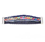 Hot Sale Bohemia Multicolor Fabric Handmade Blue Friendship Bracelet