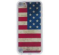 caso retro del estilo de la bandera americana patrón epoxi duro para ipod touch 5