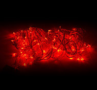 10M 100 LED Red Light LED Décoration de Noël Guirlande lumineuse (220)