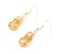 Elegant Alloy Silver Plated With Crystal Women's Earrings