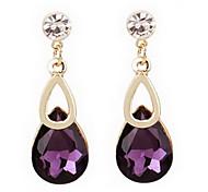 Z&X®  (1 Pc) Sweet (Water Drop) Multicolor Crystal Rhinestone Drop Earrings