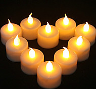 1PCS LED Yellow Candle Shaped Light Party Supply Wedding Decoration(4.5x3.9x3.9cm)