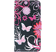 Beautiful Butterflies Pattern Full Body Case with Card Slot for HTC 601e(One Mini)/M4(Black)