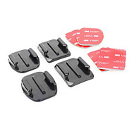 Gopro Hero3 and 2 Flat and Curved surface mount set (Black)