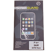 Professional Clear Anti-Glare LCD Screen Guard Protector for Samsung S5780 Wave
