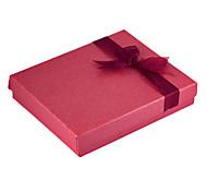 Box Vintage Red Paper Jóias Para Jóias Set (Red) (1 Pc)