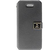 Color sólido elegante protector de caso completo del cuerpo de la PU con ranura para tarjeta y el soporte para el iPhone 4/4S (colores surtidos)