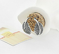 (1 Pc)Fashion (Leaf) Coppery Alloy Stud Earrings(Silver)