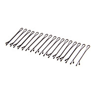 (20pcs)Fashion Black Stainless Steel Hairpins For Women(Black)