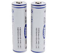 FB 2PCS 2800mAh Rechargeable AA Ni-MH Batteries White(2pcs)