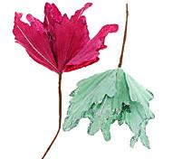 Glitter Maple Leaf Flor Decoração de Natal enfeites de natal (cor aleatória)