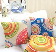 Juego de 3 Galaxy Circle Algodón / Lino almohada cubierta decorativa