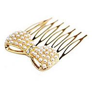 Korean Fashion Sweet Bow Pearl Hair Comb
