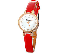Women's Small Dial PU Band Quartz PU Band Bracelet Watch (Assorted Colors)