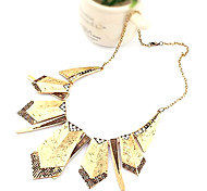 Golden Statement Necklaces Alloy Daily / Casual Jewelry