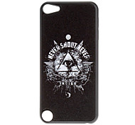Shimmering Hand and Triangle Eye Pattern Hard Case for iPod touch 5