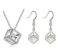 Z&X®  Fashion Silver-Plated (Includes Necklace & Earrings) Jewelry Set (Silver)