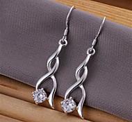 Silver Plated Drop Earrings