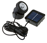6-LED wasserdichte Solar Spotlight Garten Outdoor Flut-Lampe