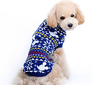 Dog Sweaters - XS / S / M / L / XL - Winter - Blue - Christmas - Woolen