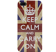 Keep Calm and Carry on Union Jack Flag White Plastic Case Cover for iPhone 5/5S