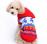 Cani Maglioni - Inverno - Natale - Rosso - di Lanetta - XS / S / M / L / XL