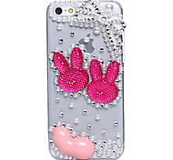 Rabbit Ears Jewel Covered Cases for iPhone 5C
