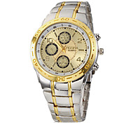Men's Watch Dress Watch Gold Dial Alloy Band