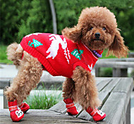 Dog Sweaters - XXS / XS / S / M / L / XL / XXL / XXXL - Winter - Red / Blue / Pink / Rainbow - Keep Warm - Cotton