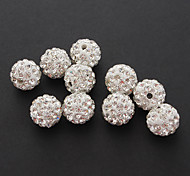(10pcs) Fashion Round DIY Rhinestone Beads