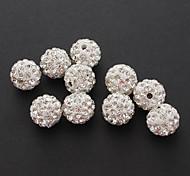 (X10) Mode Ronde strass bricolage Perles