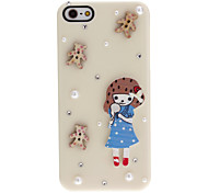 For iPhone 5 Case Pattern Case Back Cover Case 3D Cartoon Hard PC iPhone SE/5s/5