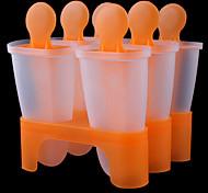 6 células congeladas sorvete pop molde fabricante de picolé molde lolly