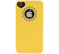 Talla de color sólido y patrón Heard-forma del estuche rígido para el iPhone 4/4S (colores surtidos)