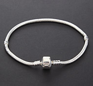 Fashion Unisex Silver-Plated Bracelet (1 Pc)