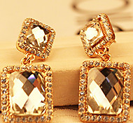 z&x® (1 PC) Fashion (Quadrat) Gold Strass Ohrringe (Gold)