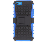 Black Back Cover Case with Stand for iPhone 5C (Assorted Colors)