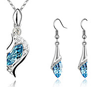 S Shape Earrings & Necklace Jewelry Set