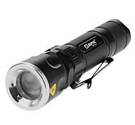 Sipik SK96 3 AAA 5-Mode Cree XM-L T6 LED Zoom Lanterna com Clip (1000LM, 1x18650/3xAAA, Preto)