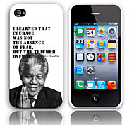 Remembering Nelson Mandela's Motto of Courage Designed Hard Case for iPhone 4/4S